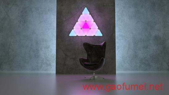 Nanoleaf推模块化任意拼装的智能照明面板如乐高积木般有趣