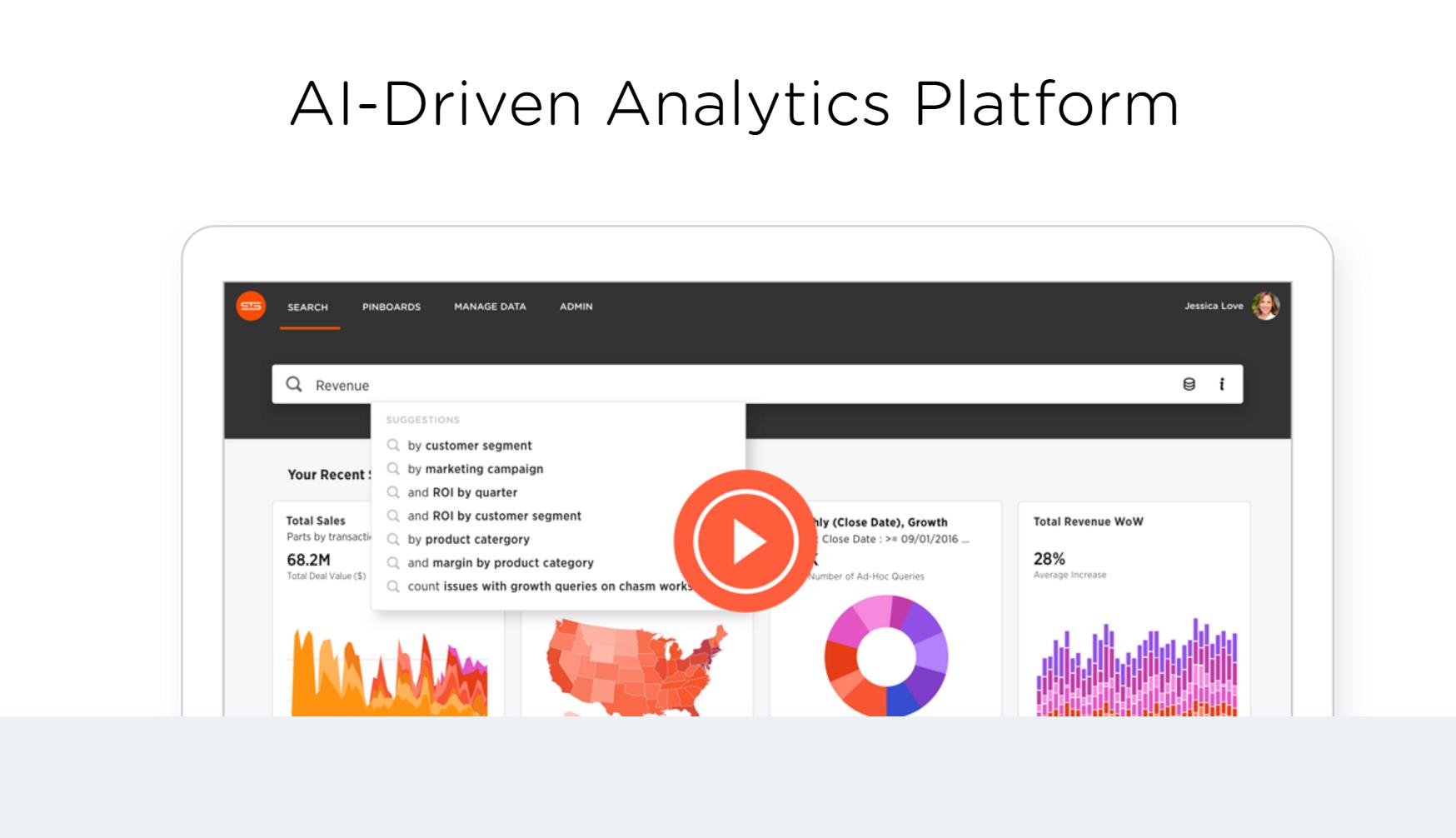 智能搜索引擎 ThoughtSpot 获6千万美元融资多维度搜索一键生成分析报告