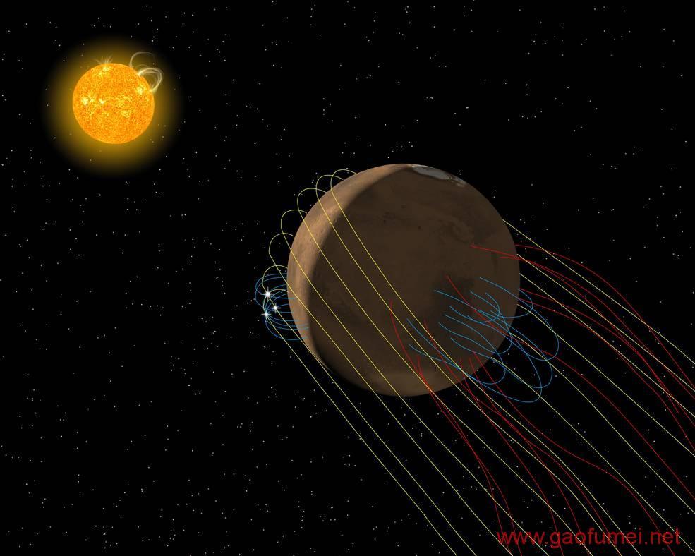 NASA发现火星磁尾揭示火星大气层消失的元凶