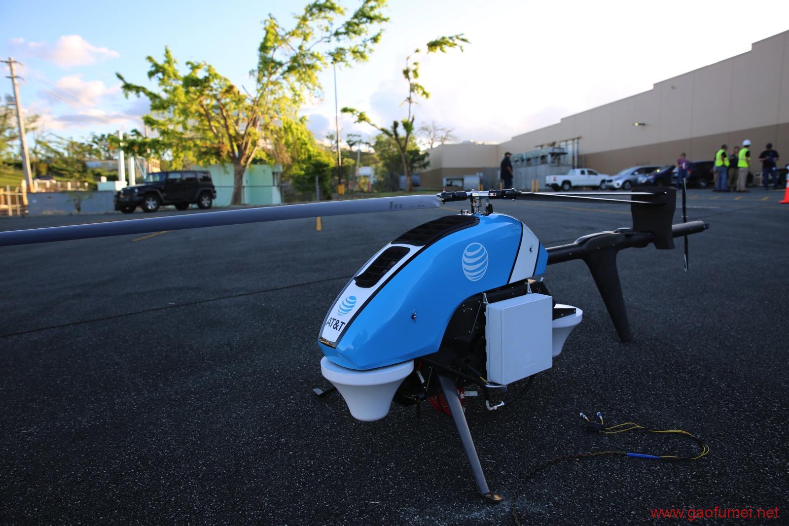 永不坠落的无人机基站AT&T灾区救援行动