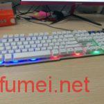 酷耶键盘开启彩色炫光灯的方法
