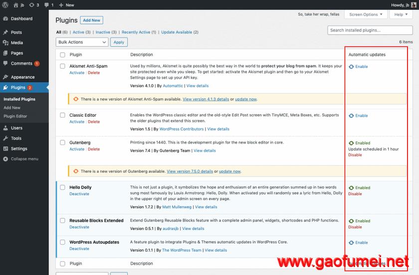 WordPress 5.5或将带来插件和主题自动更新功能